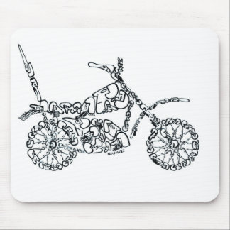 Motor Bike, made of Faces Mouse Pad