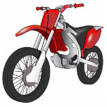 "Motor Bike Sports Mud Dirt Dad Son Red Art Fun Statuette<br><div class=""desc""></div>"