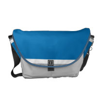 Motor Blue Messenger Bag