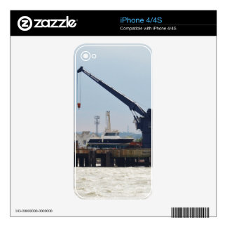 Motor Boat And Crane Skin For The iPhone 4