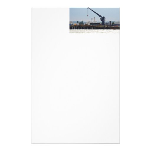 Motor Boat And Crane Personalized Stationery