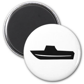motor boat icon 2 inch round magnet