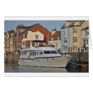 Motor Boat In Weymouth Card