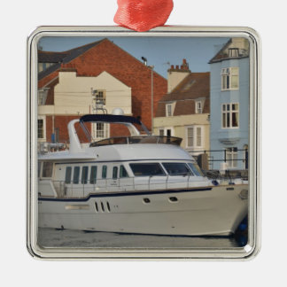 Motor Boat In Weymouth Metal Ornament