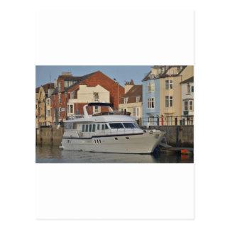Motor Boat In Weymouth Postcard