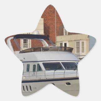 Motor Boat In Weymouth Star Sticker