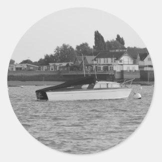 Motor Boat Jane Classic Round Sticker