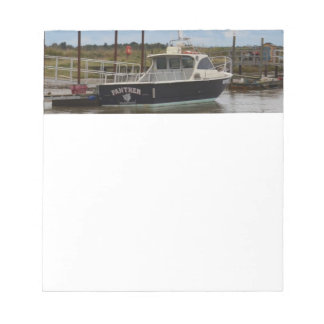 Motor Boat Panther At Southwold Notepad