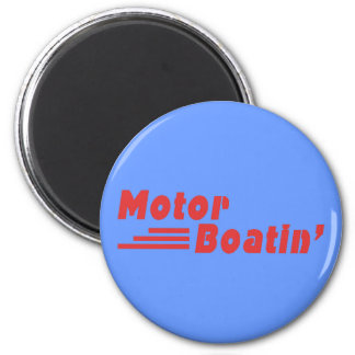 Motor Boatin' 2 Inch Round Magnet