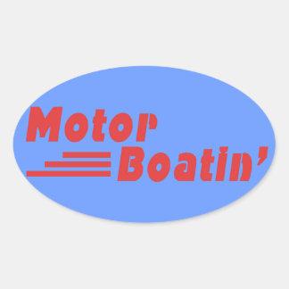 Motor Boatin Pegatinas De Óval Personalizadas