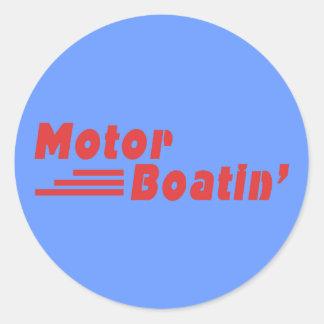 Motor Boatin Pegatina Redonda