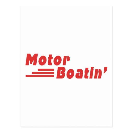 Motor Boatin Postales