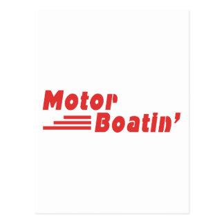 Motor Boatin' Postcard