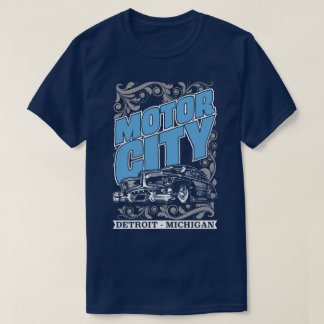 Motor City Detroit Michigan Classic Cars USA Tee
