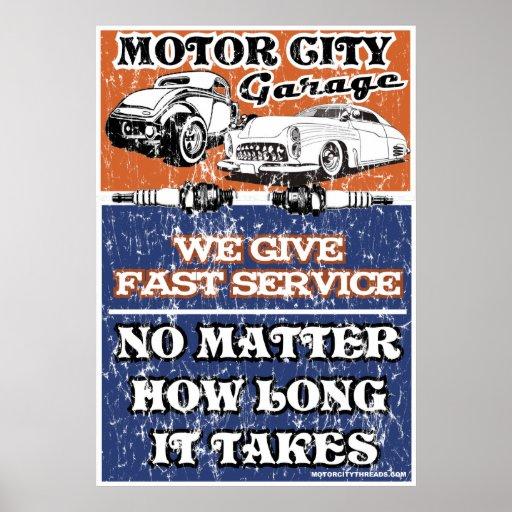MOTOR CITY GARAGE 2 POSTER