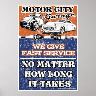 MOTOR CITY GARAGE 2 POSTERS