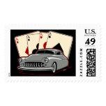 Motor City Lead Sled Postage Stamp