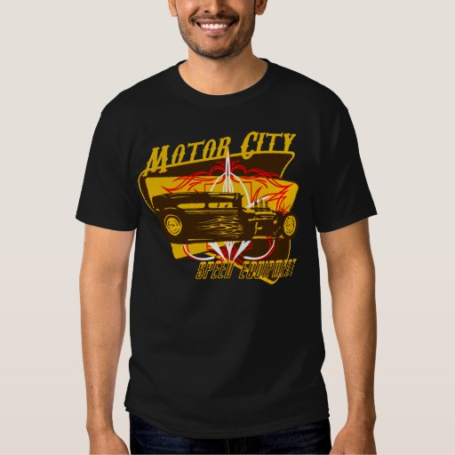 Motor City Speed Equipment Vintage Sign T-shirts