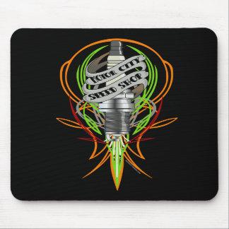Motor City Speed Shop Sparkplug Mousepad