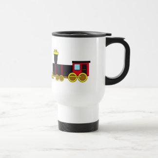 Motor clásico multicolor del tren/de la tazas de café