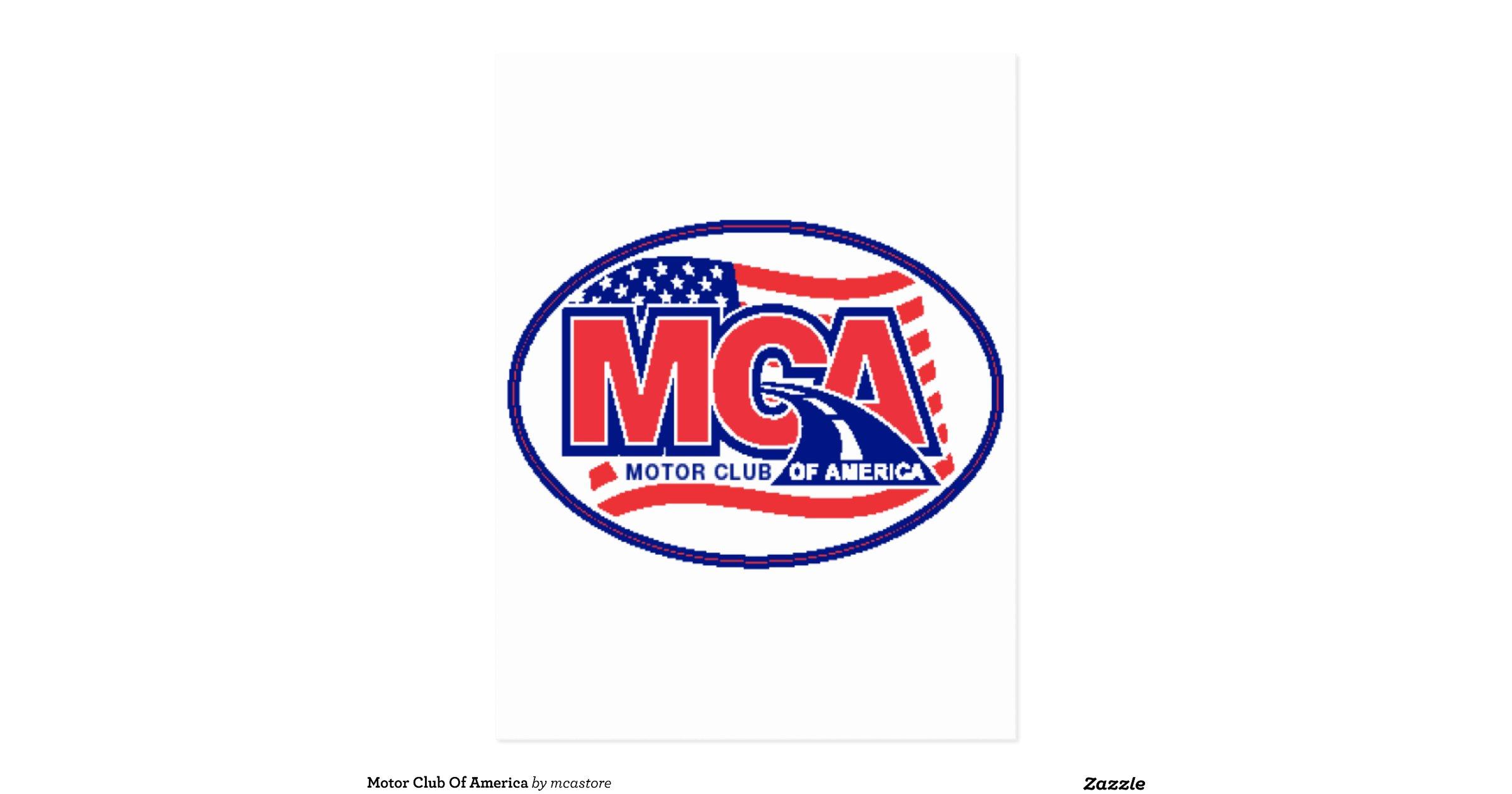Motor Club Of America Postcard