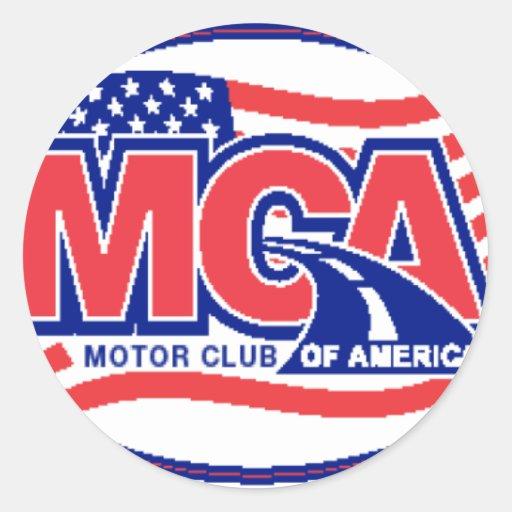 Motor Club Of America Classic Round Sticker Zazzle