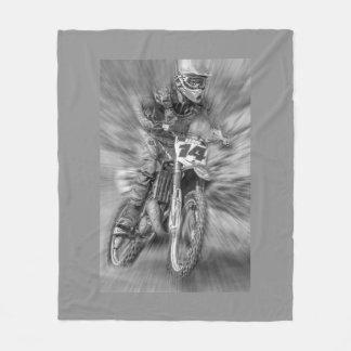 Motor cross fleece blanket