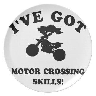 motor cross skill gift items plates