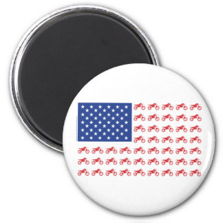 Motor-Cycle-Flag-Moto-Cross 2 Inch Round Magnet