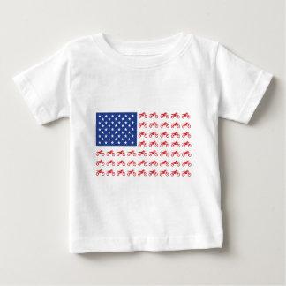 Motor-Cycle-Flag-Moto-Cross Baby T-Shirt