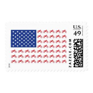 Motor-Cycle-Flag-Moto-Cross Stamp