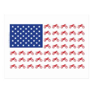 Motor-Cycle-Flag-Moto-Cross Postcard