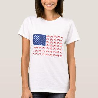 Motor-Cycle-Flag-Moto-Cross T-Shirt