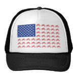 Motor-Cycle-Flag-Moto-Cross Trucker Hat