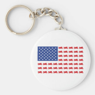 Motor-Cycle-Flag-Sport Basic Round Button Keychain