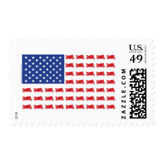 Motor-Cycle-Flag-Sport Postage Stamps