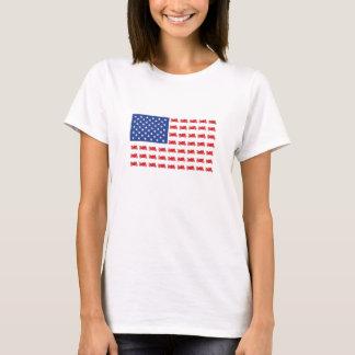 Motor-Cycle-Flag-Sport T-Shirt