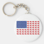Motor-Cycle-Flag-WING Basic Round Button Keychain
