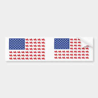 Motor-Cycle-Flag-WING Bumper Sticker