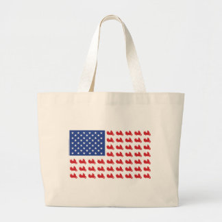 Motor-Cycle-Flag-WING Large Tote Bag