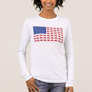 Motor-Cycle-Flag-WING Long Sleeve T-Shirt