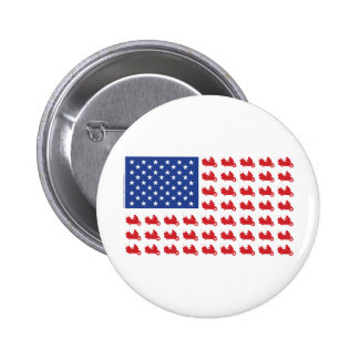 Motor-Cycle-Flag-WING Pinback Button
