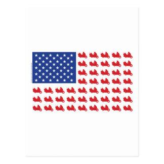 Motor-Cycle-Flag-WING Postcard