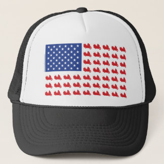 Motor-Cycle-Flag-WING Trucker Hat