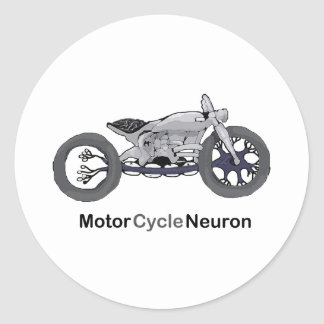Motor Cycle Neuron Classic Round Sticker