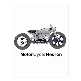 Motor Cycle Neuron Postcard