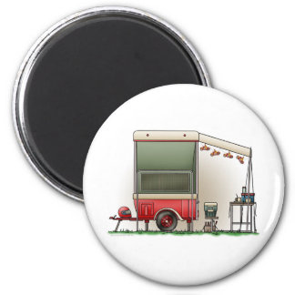 Motor Cycle Trailer Camper 2 Inch Round Magnet