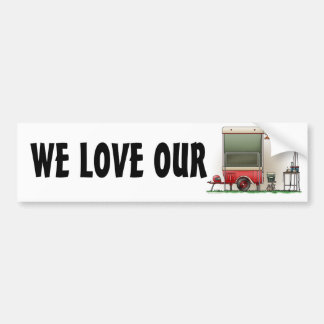 Motor Cycle Trailer Camper Bumper Sticker