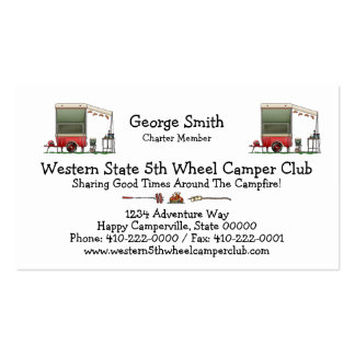 Motor Cycle Trailer Camper Business Card