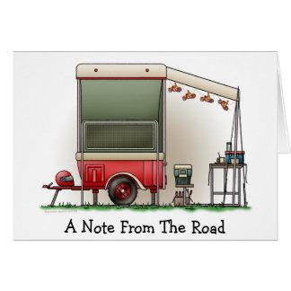 Motor Cycle Trailer Camper Card